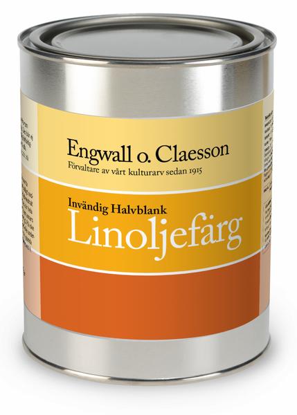 Innvendig hvit/standardfarge halvblank linoljemaling Engwall o C